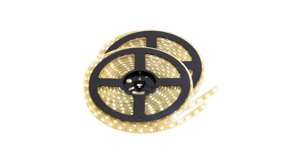 LED Strip Warm Wit | IP68 Waterdicht | 60 Leds p/m | 10 meter (2x 5 meter) | 12V