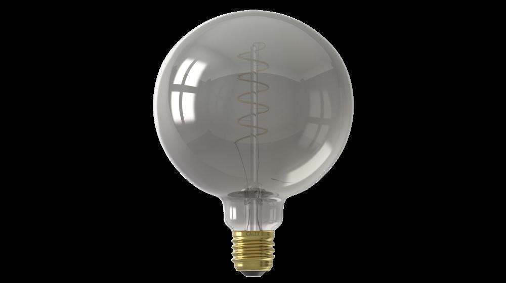 Flex Globe G95 Titanium LED Filament Lamp   4W   E27   2100K