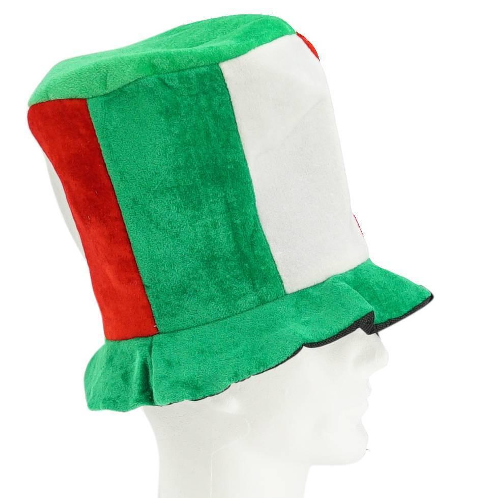 Hoge hoed groen-wit-rood