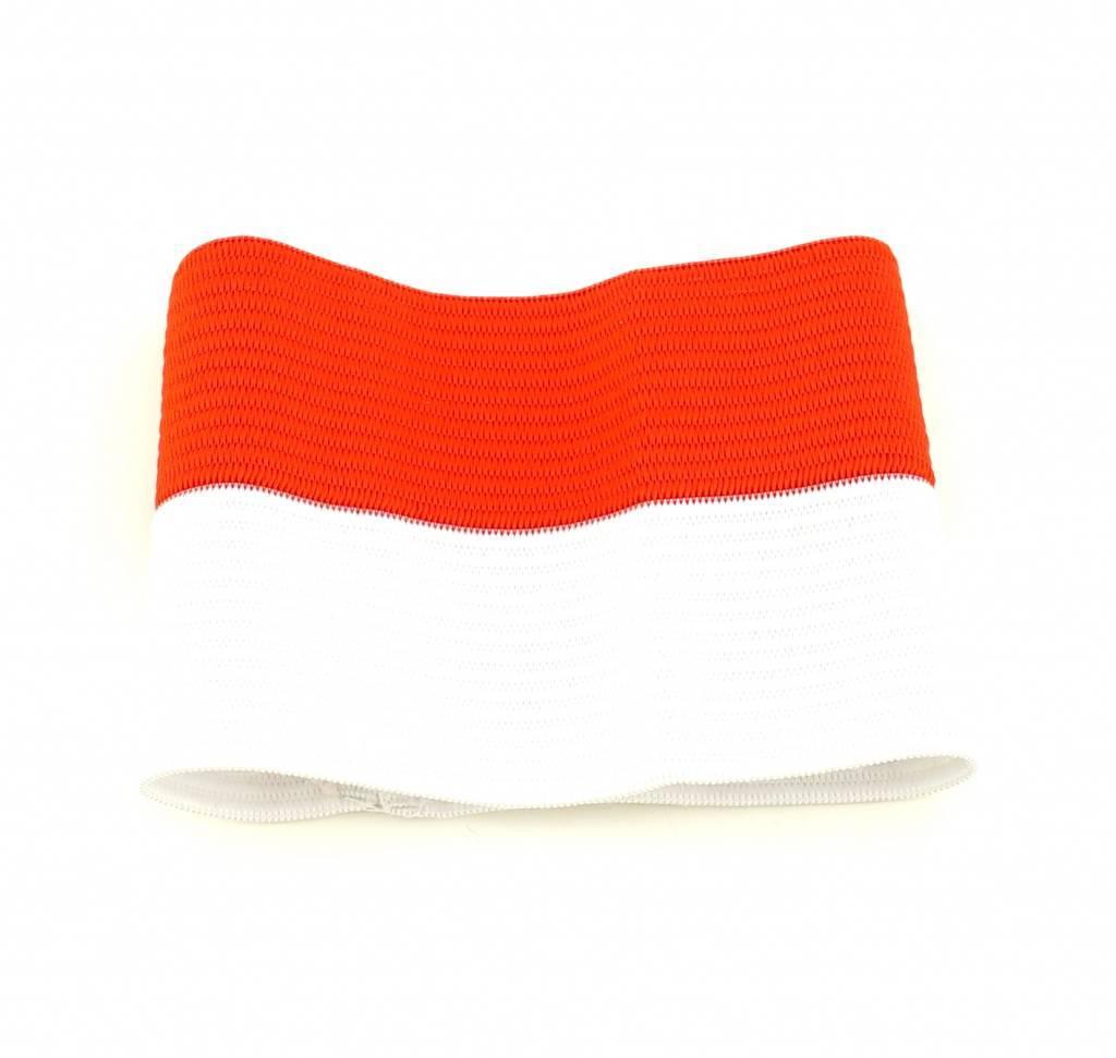 Kapiteinsband rood/wit