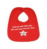 Slabbetje - rood - Iech bin MVV-supporter, sjus wie mien Peer en Meer!