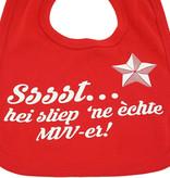 Slabbetje - rood - Sssst...hei sliep 'ne èchte MVV-er!