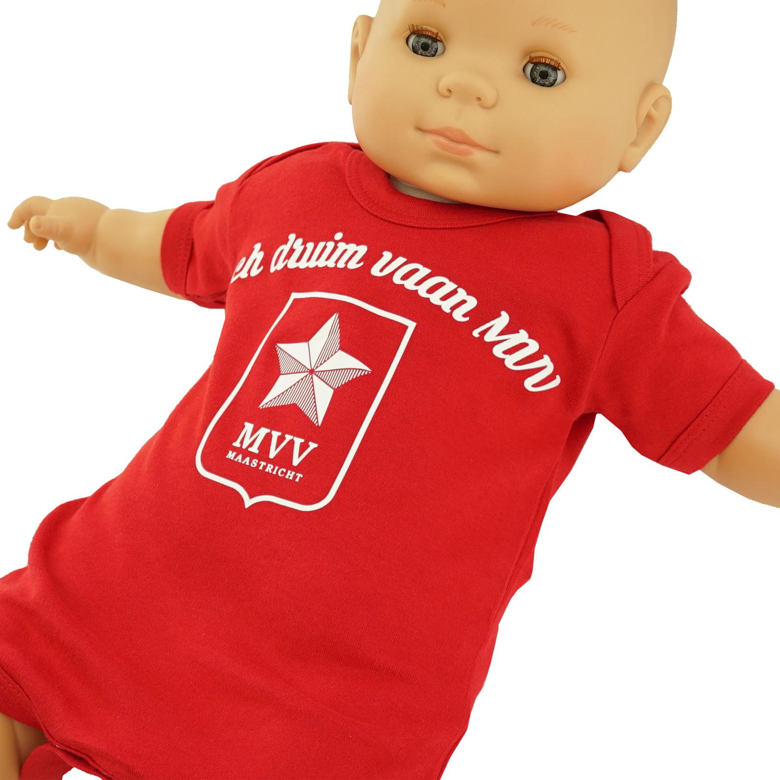 Baby body - rood - Iech druum vaan MVV