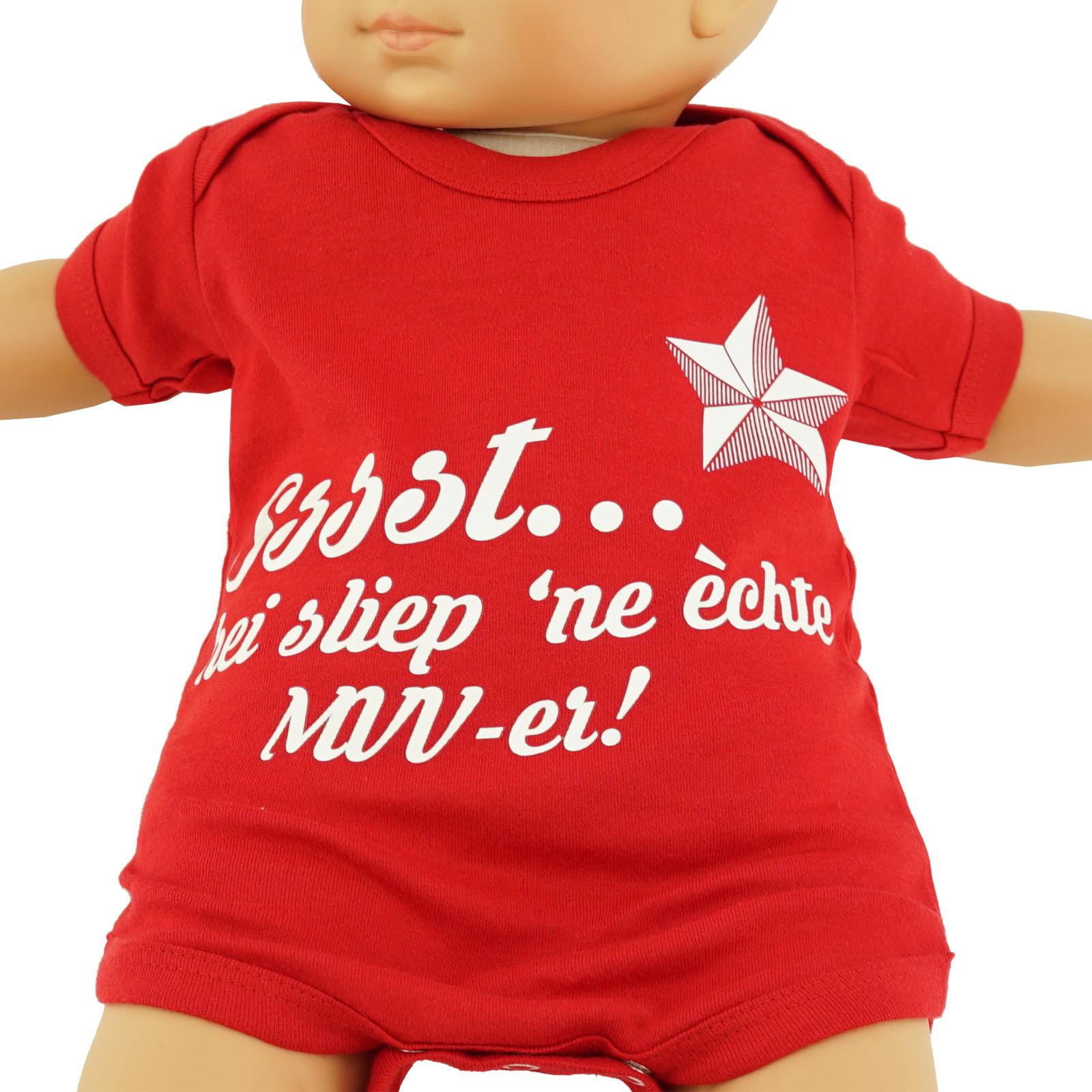 Baby body - rood - Sssst...hei sliep 'ne èchte MVV-er!