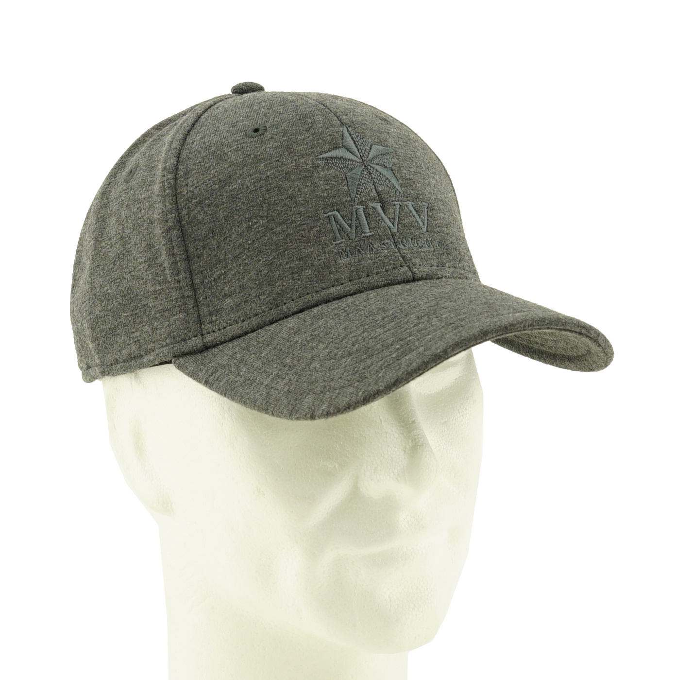 Pet grijs logo in borduur - MVV