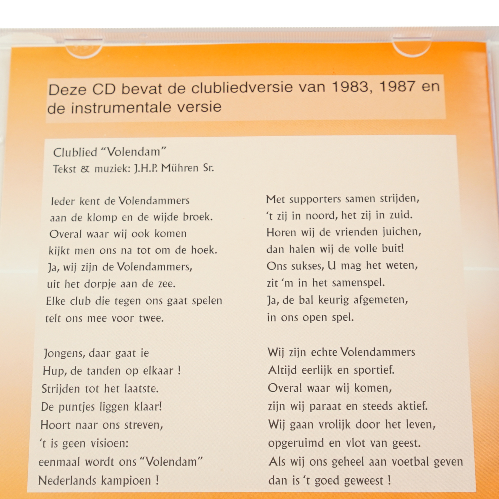 CD Clublied Volendam