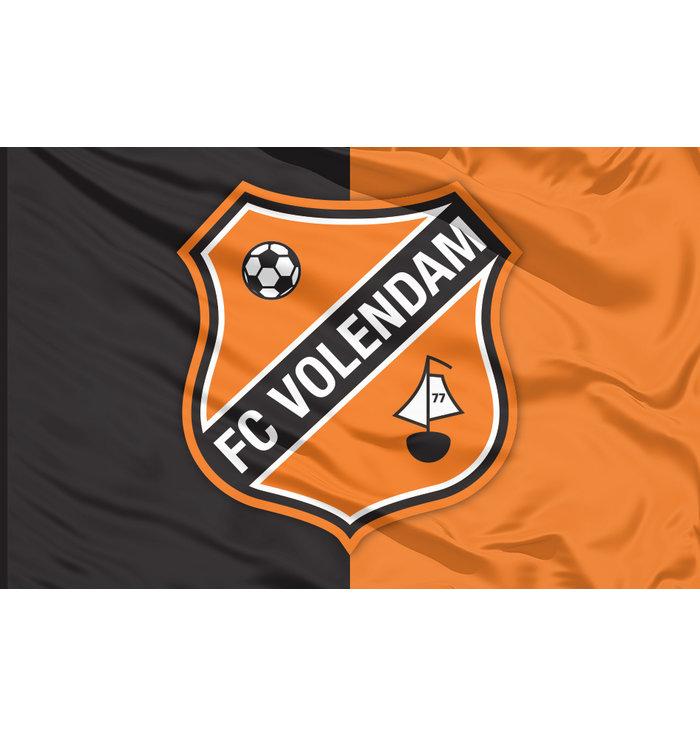 Vlag logo oranje/zwart
