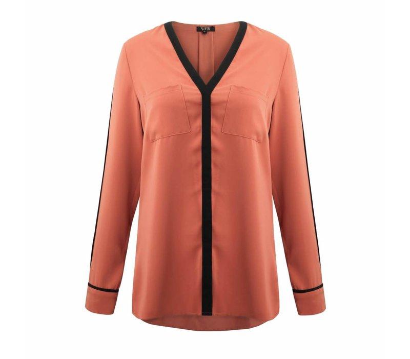 Given blouse Joyce Brick