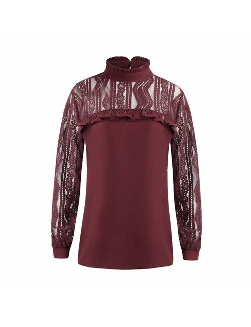 Given Given blouse sofia Bordeaux