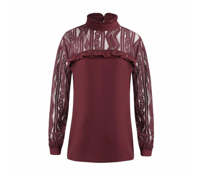 Given blouse sofia Bordeaux