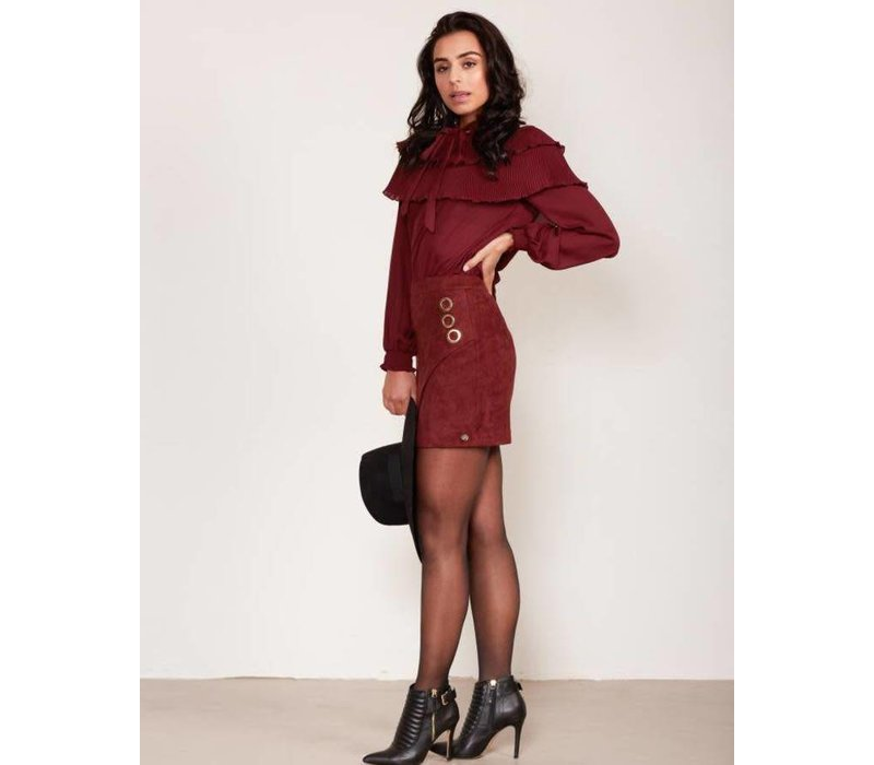 jacky luxury rok Burgundy