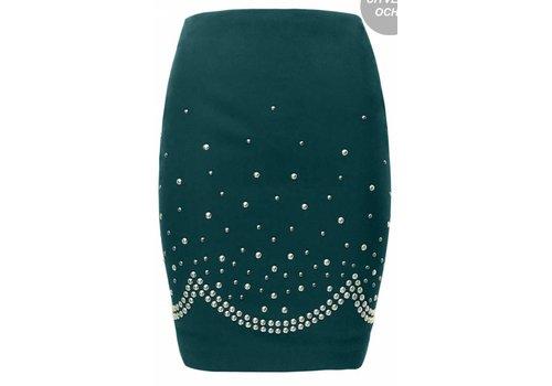 Petrol Stud Skirt
