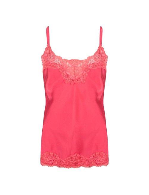Jacky luxury Jacky luxury top basic satin lace hot pink