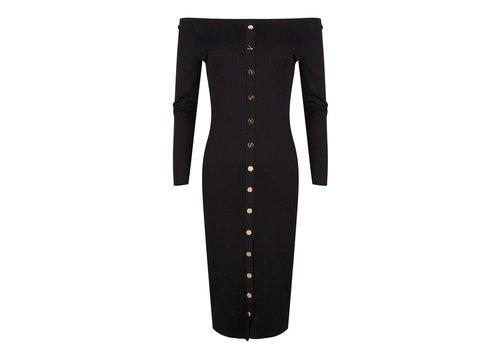 Jacky luxury Jacky luxury dress rib button details
