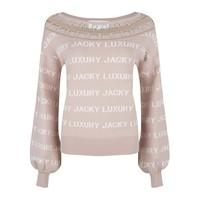 Jacky Luxury pullover knit logo nude