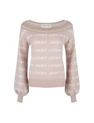 Jacky luxury Jacky Luxury pullover knit logo nude