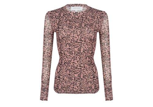 Jacky luxury Jacky Luxury top mesh Leopard pink