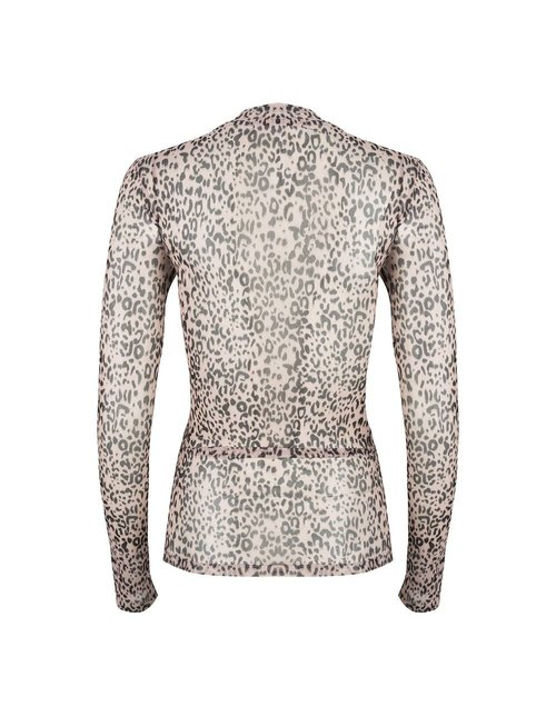 Jacky luxury Jacky Luxury top mesh Leopard brown