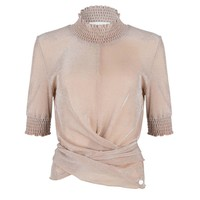 Jacky Luxury top smock collar nude