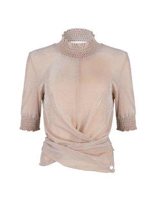 Jacky luxury Jacky Luxury top smock collar nude