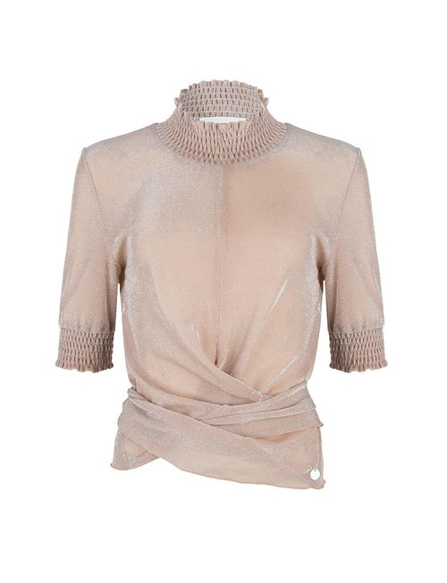 Jacky luxury Jacky Luxury top smock collar nude
