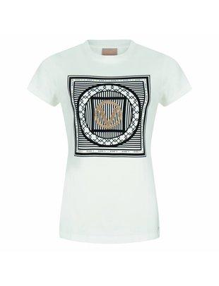 Jacky luxury Josh V T shirt Zoe v print off white