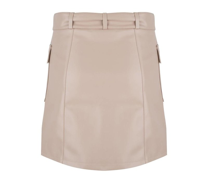 Jacky Luxury skirt pu belt nude