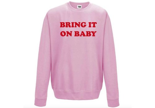 The girl and ibiza TGAI sweater bring it on roze