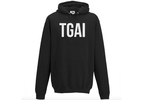 The girl and ibiza TGAI hoodie brand big zwart