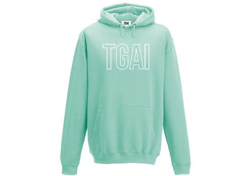 The girl and ibiza TGAI hoodie line mint