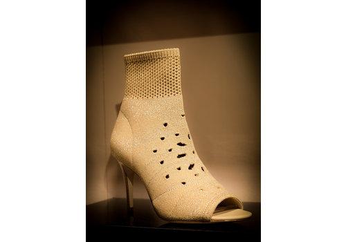 ASH Ash ankle boots knit gold