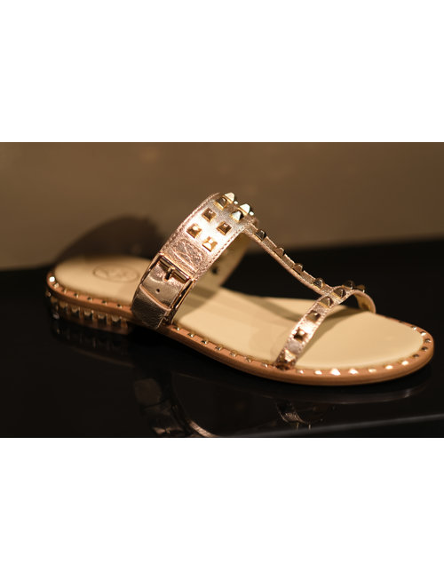 ASH ASH slipper Ariel rosegold with gold studs