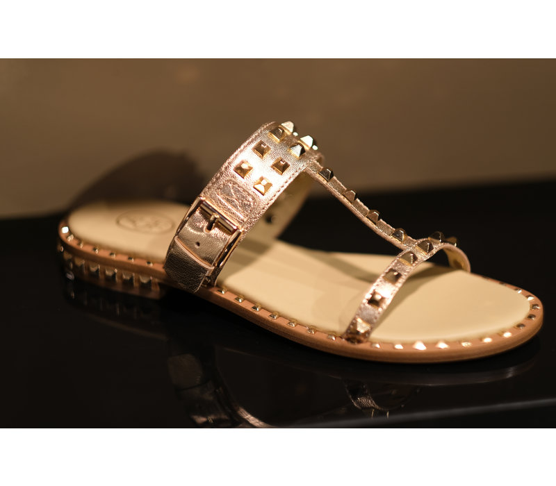 ASH slipper Ariel rosegold with gold studs