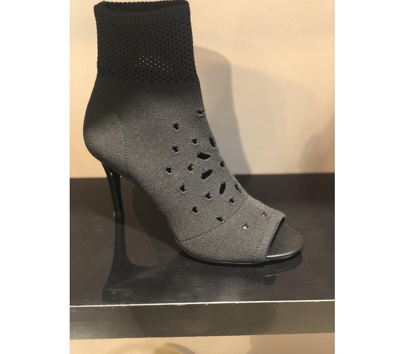 Ash ankle boots knit black