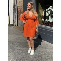 Chic Trash jurk lace oranje