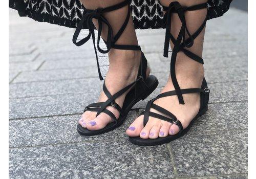 So Jamie SO JAMIE slipper lovely laces black