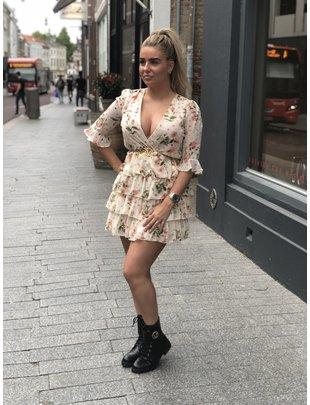 Chic Trash CHIC TRASH jurk Anouk zalm