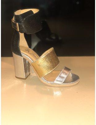 So Jamie SO JAMIE high heel date night gold/zilver