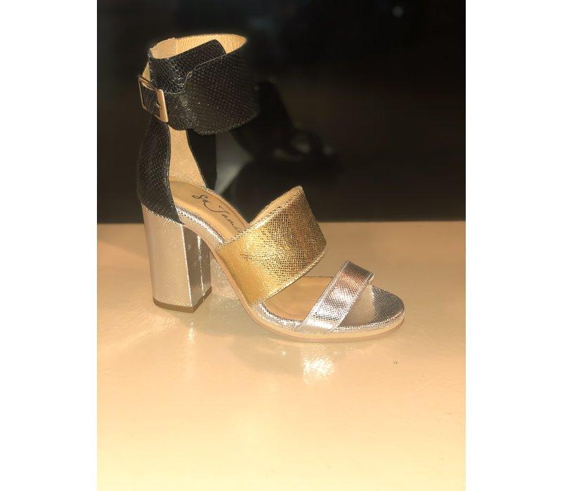 SO JAMIE high heel date night gold/zilver