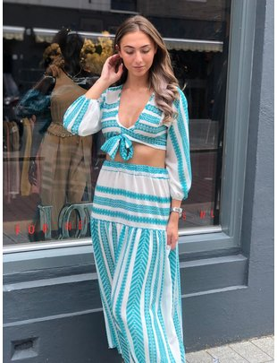 Chic Trash CHIC TRASH TWO PIECE SET GREECE AQUA