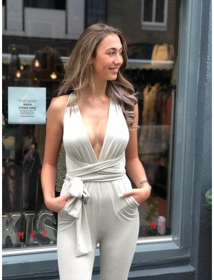 Chic Trash CHIC TRASH JUMPSUIT ZILVER
