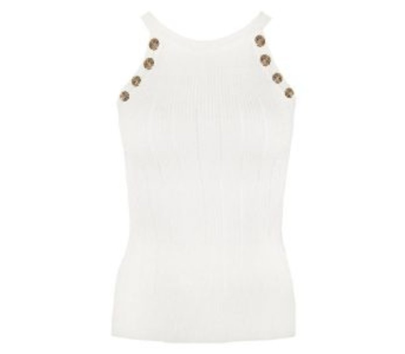 CHIC TRASH TOP GOLDEN BUTTONS WIT