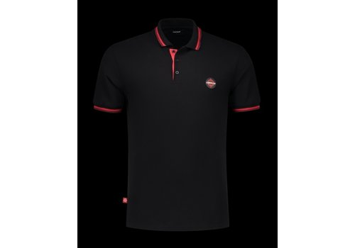 CARTELLO WEAR CARTELLO WEAR POLO ZWART/ROOD