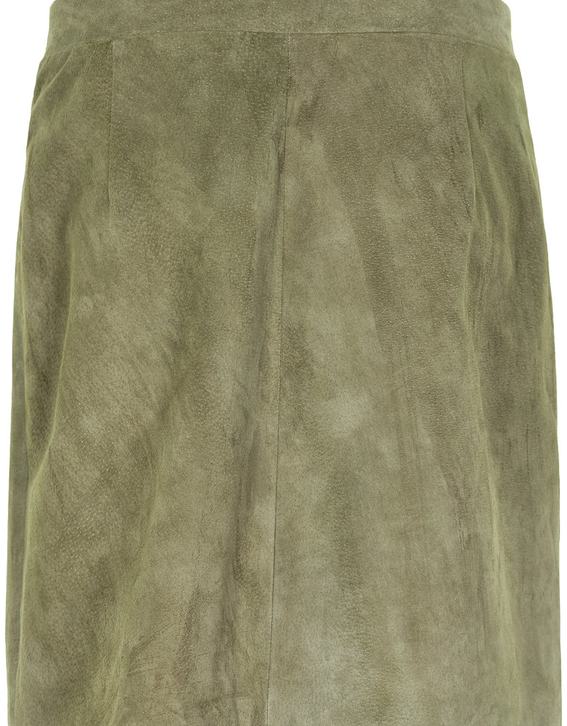 Nümph Lionella Suede Skirt - Groen