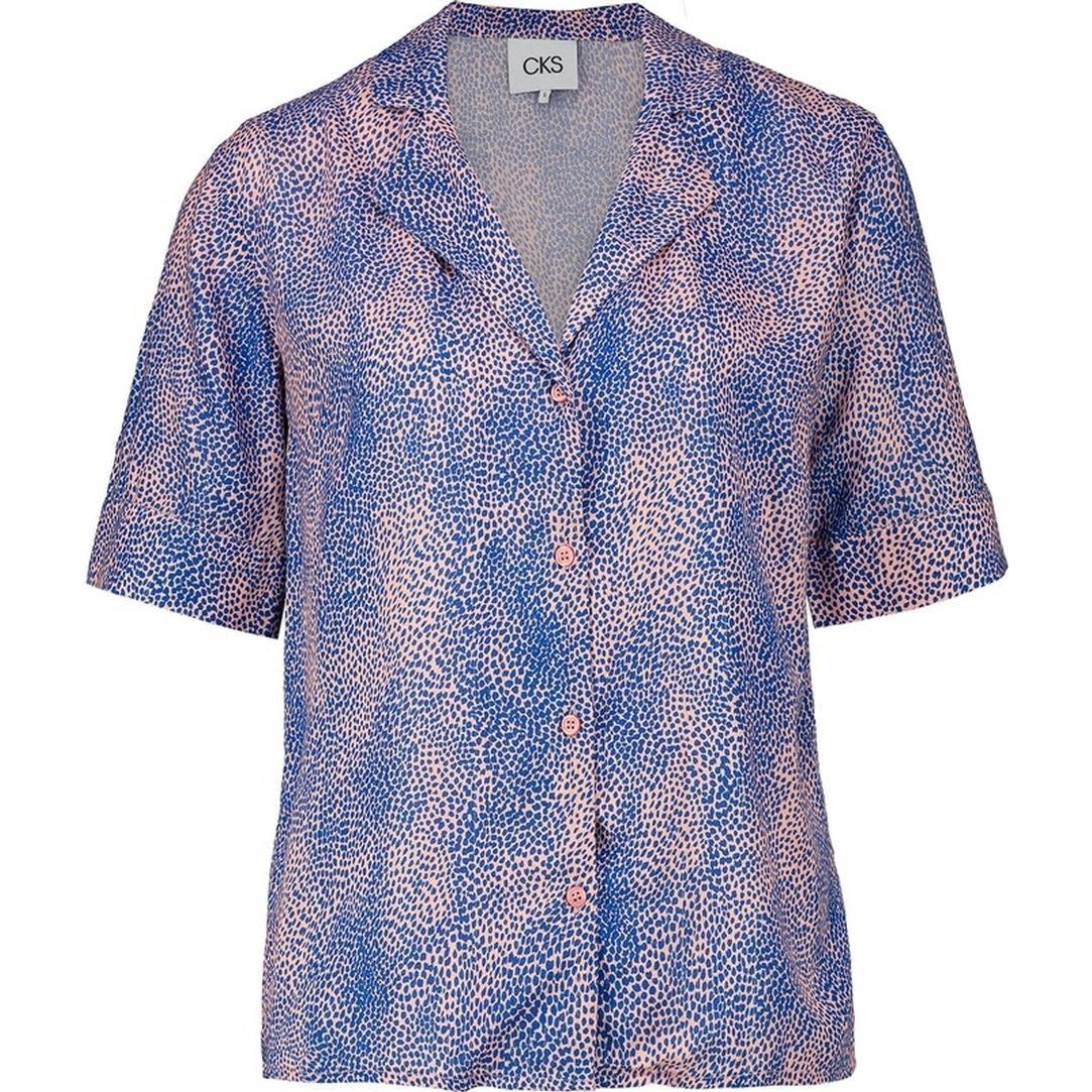 CKS Liko Shirt - rose/blauw