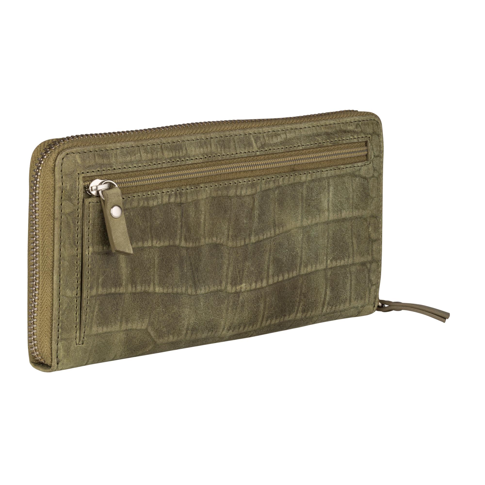 Burkely Croco Cody - Wallet L - Groen