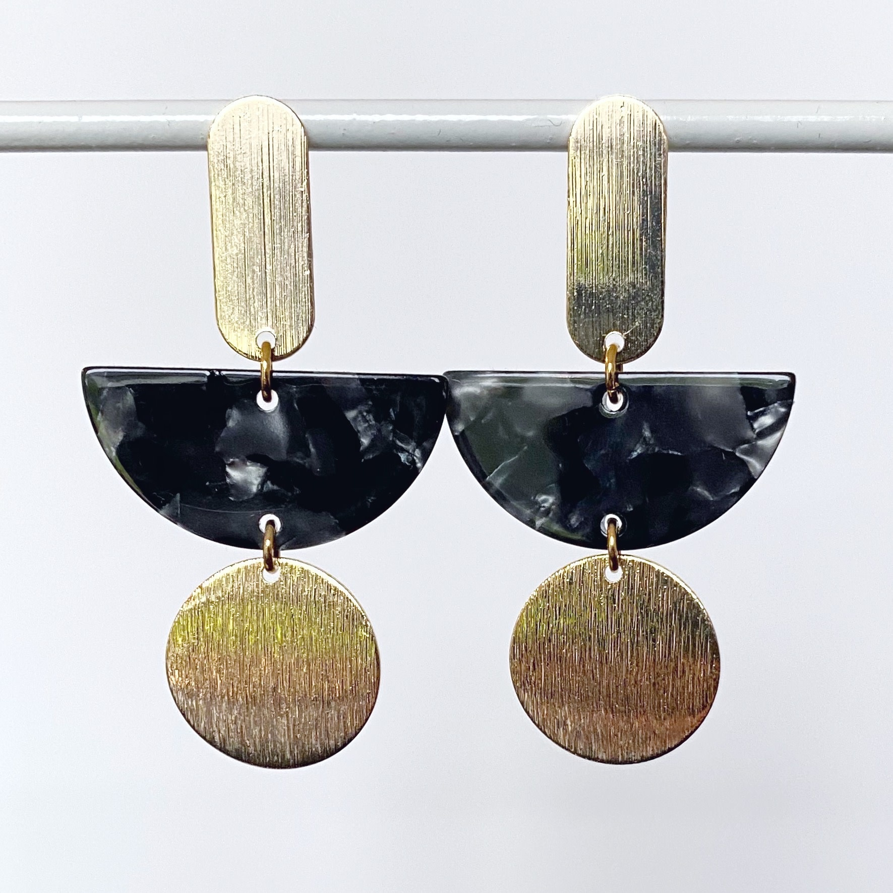 NAO Jewels O-Verguld-Acetaatzwart