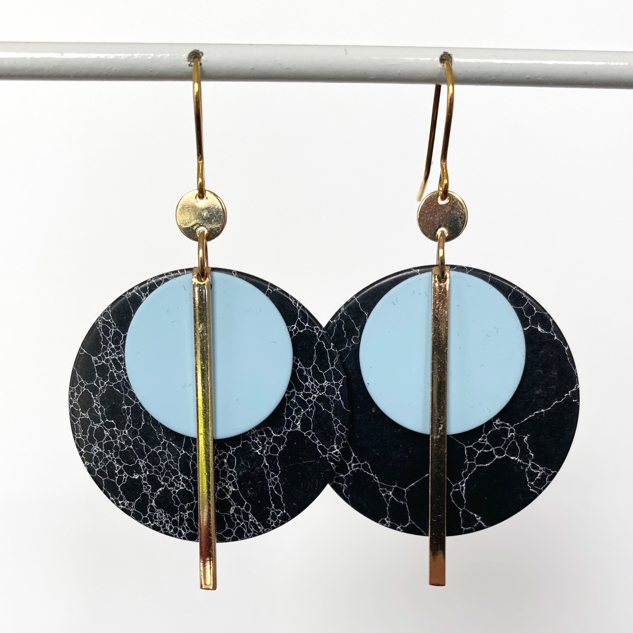 NAO Jewels O-Verguld-Marmerzwart002