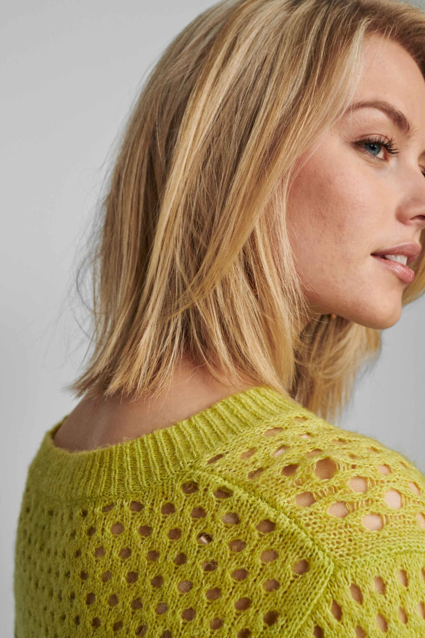 Nümph Brexley pullover - Groen/Geel