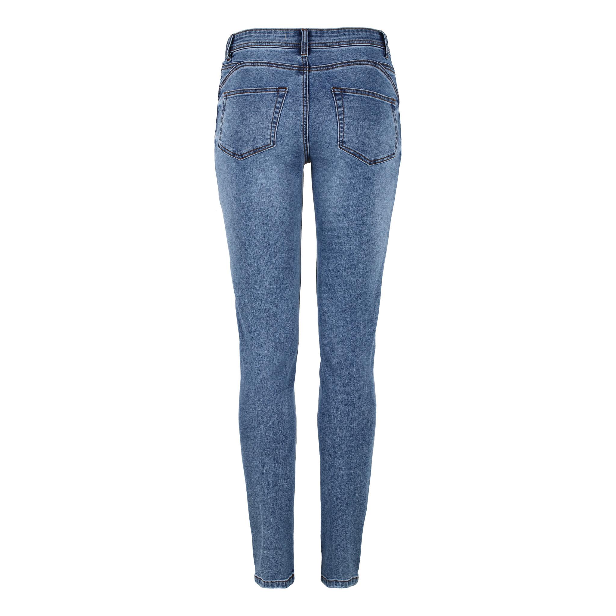 Soft Rebels Mid Rise Slim Jeans Light Blue